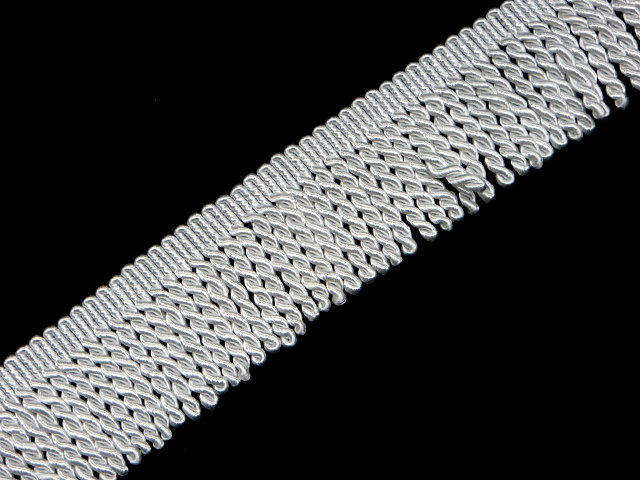 "2"" White Bullion Fringe Trim"