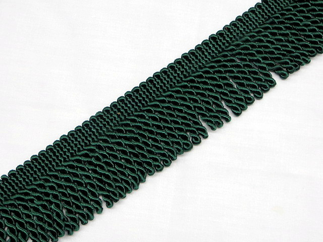 "2"" Hunter Green Bullion Fringe Trim"