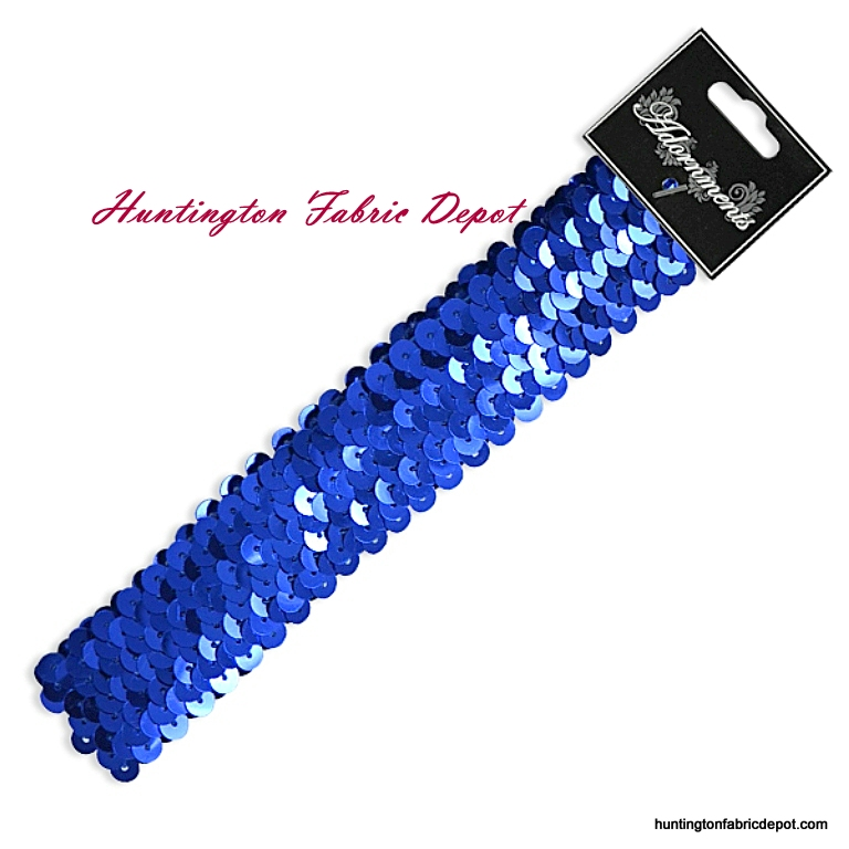 Royal Sparkly Stretch Sequin Headband