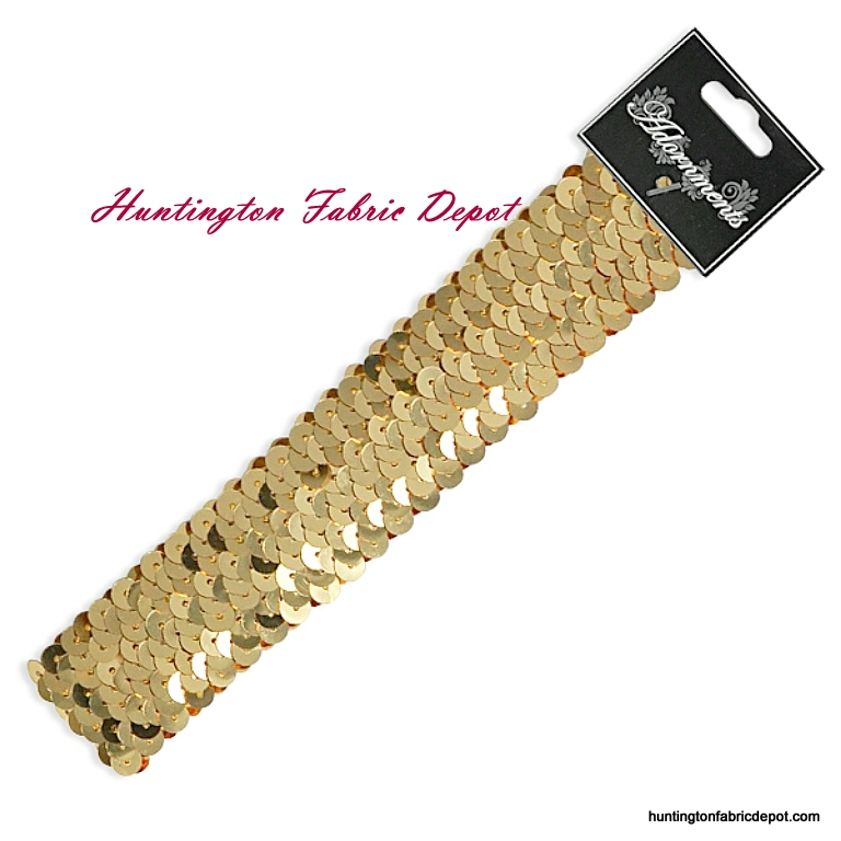 Gold Sparkly Stretch Sequin Headband