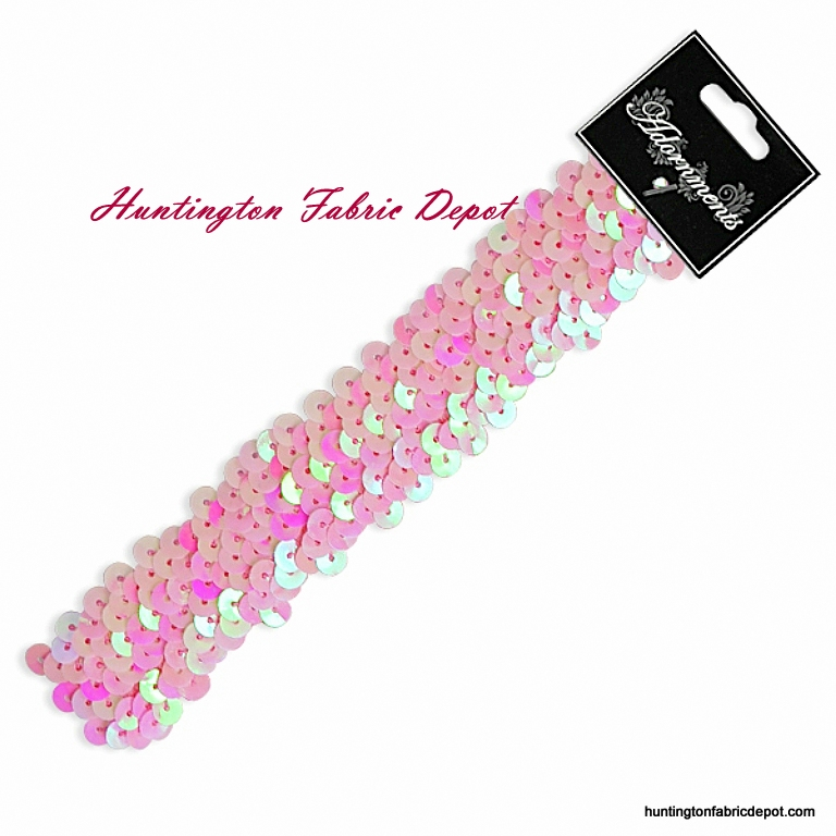 Pink Sparkly Stretch Sequin Headband