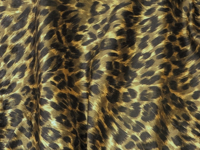Cheetah Print Stretch Velvet Fabric