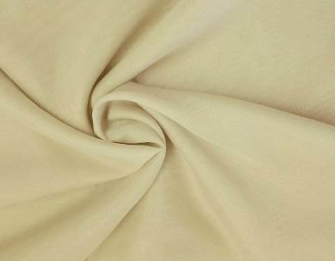 Beige 118 inch Wide Sheer Voile/Chiffon Fabric