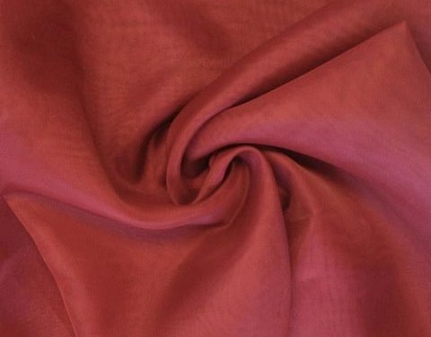 Dark Red 118 inch Wide Sheer Voile/Chiffon Fabric