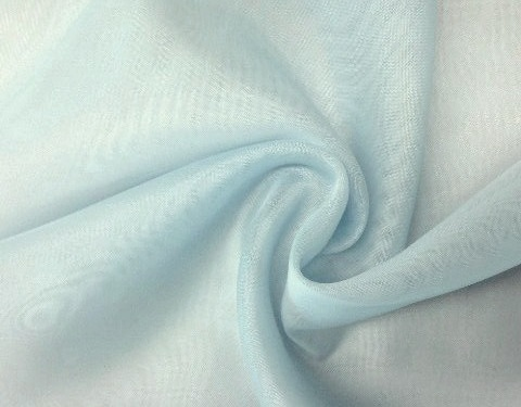 Light Blue 118 inch Wide Sheer Voile/Chiffon Fabric