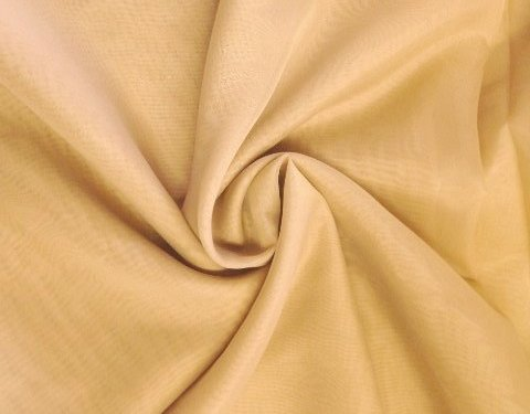 Light Gold 118 inch Wide Sheer Voile/Chiffon Fabric