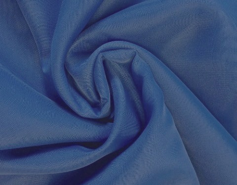 Royal Blue 118 inch Wide Sheer Voile/Chiffon Fabric