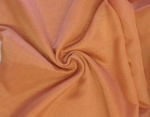 Rust 118 inch Wide Sheer Voile/Chiffon Fabric