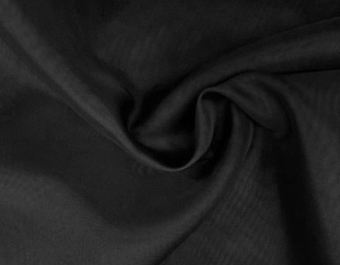 Black 118 inch Wide Sheer Voile/Chiffon Fabric