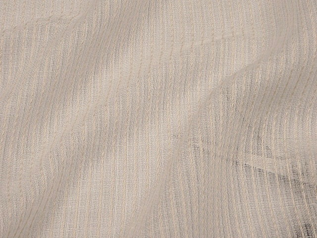 Off-white 130-inch Wide Textured Sheer Linen Fabric