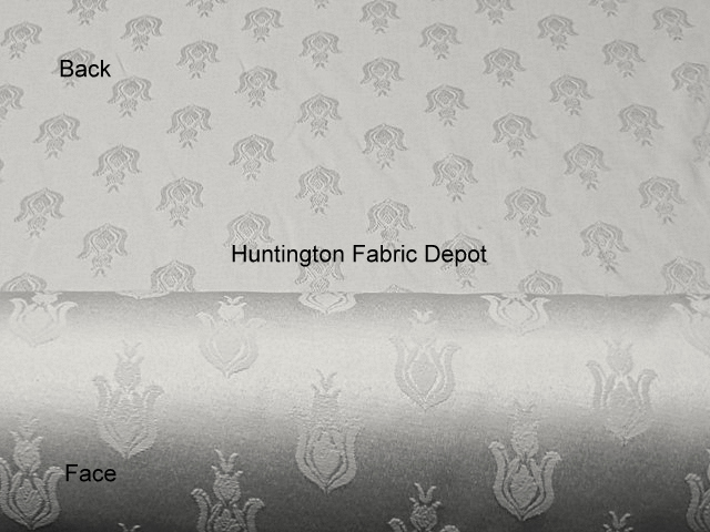 White Jacquard-Design Bellflower
