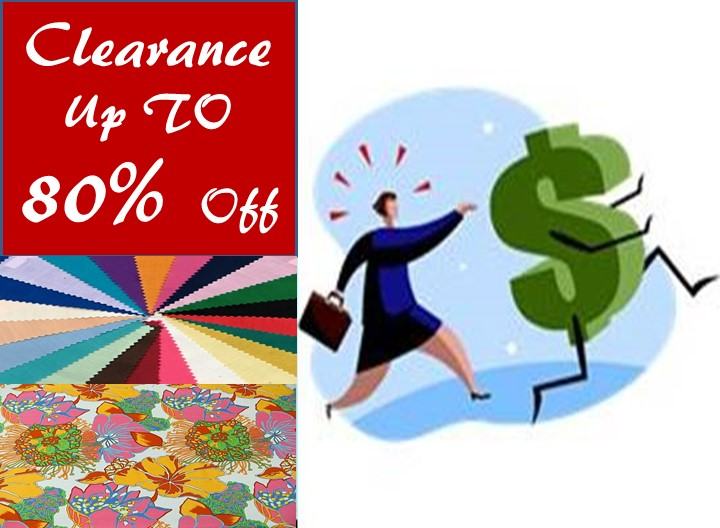 Fabric Clearance Up TO 80% Off