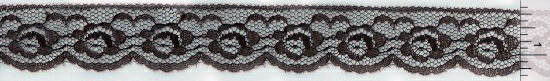 One-inch Brown Scalloped Lace Trim