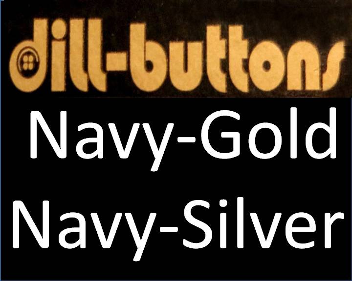 Navy/Gold Buttons by Dill
