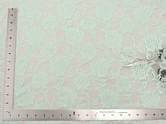 Aqua stretch lace fabric