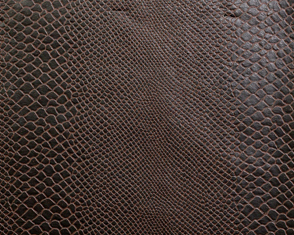 Cocoa Faux Lizard Leather For Apparel/Decor/Hospitality Applic.