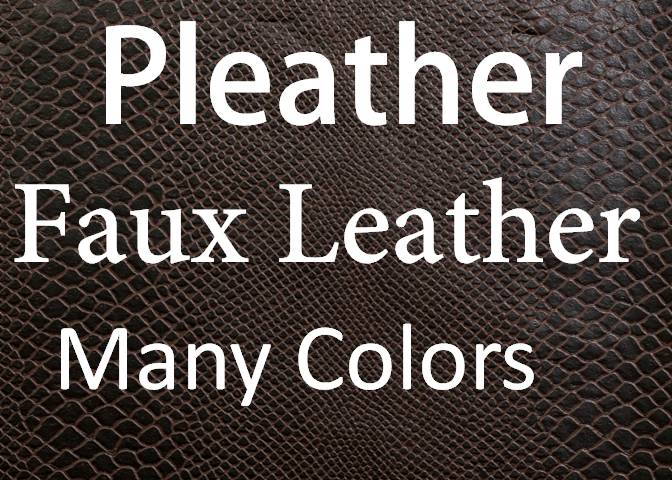 Pleather/Faux Leather For Apparel/Decor/Hospitality Applications