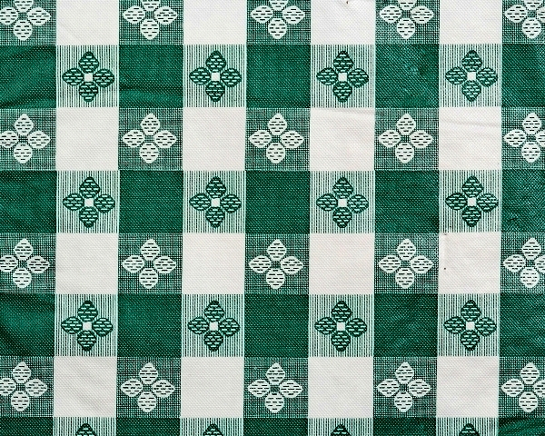 Green & White Tavern Check Tablecloth Vinyl