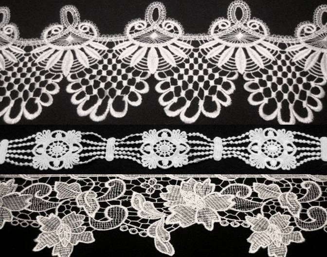 Embroidered Guipure Lace Trim